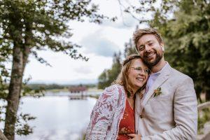 Hochzeitsfotos am Weiher in der Nähe Bernried am Starnberger See